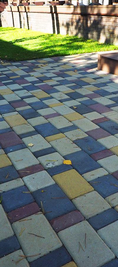 плитка тротуарная на белом цементе